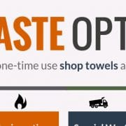 Know your waste options for single use shop towels and oil absorbents